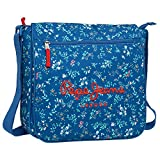 Pepe Jeans 6035151 Bandolera, Diseño Flores, Color Azul