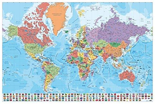 Grupo Erik Editores, S.L. - Póster mapa mundo-e grupo erik
