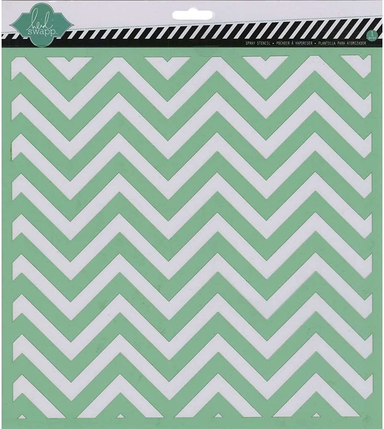 Heidi Swapp 12x12 Chevron Stencil for for for Arts and Crafting - 4-Pack B074PH6M1H     | Umweltfreundlich  b63acf
