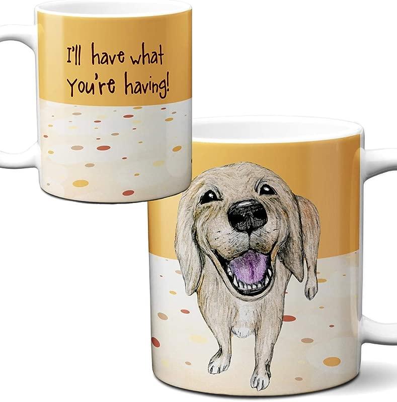 Golden Labrador Retriever Mug By Pithitude One Single 11oz White Coffee Cup