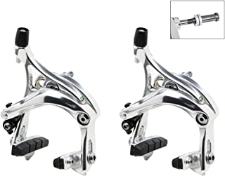 Tektro R539 Road Caliper Set Front & Rear Silver 47-57mm QR
