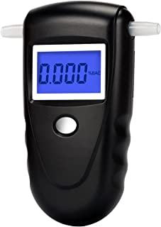 Professional Digital Breathalyzer, Portable Breath Alcohol Tester with 10 Mouthpieces
