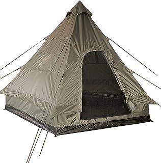 Pyramidtält Tipi indisk stil campingfestivaler vandring utomhus 4 personer oliv