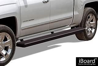 APS 6in Wheel-to-Wheel Black Nerf Bars Custom Fit 07-18 Silverado Sierra Crew Cab 5.5ft Bed