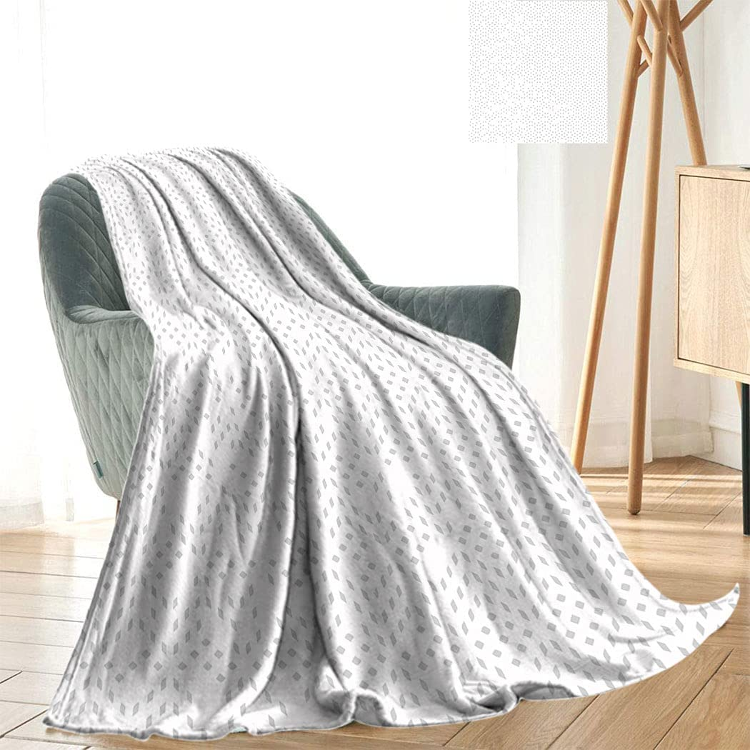 Grey and White Plush Throwing with Pattern Sm Courier shipping free shipping Blanket Free Shipping Cheap Bargain Gift Futuristic