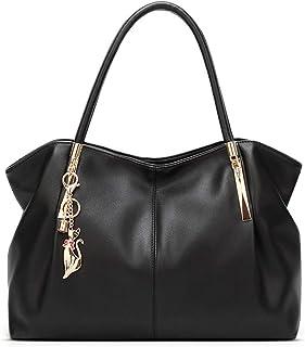 BUKESIYI Damen Tasche Handtasche Umhängetasche Schultertasche Frauen Kulturbeutel Weekender Klein PU Leder CCDE77218