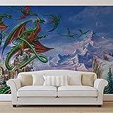 Drachen - Forwall - Fototapete - Tapete - Fotomural - Mural Wandbild - (2372WM) - XXL - 312cm x 219cm - VLIES (EasyInstall) - 3 Pieces