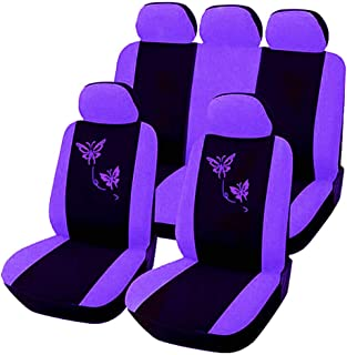 Universal Butterfly Car Seat Covers Set Full Set Auto Seat Protectors Cover Car Interior Accessories Fit Most Vehicle