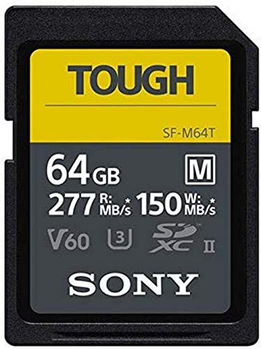 Sony SF-M Series Carte mémoire SDHC UHS-II U3 V60 64 Go Vitesse d'écriture 277 Mo/s 150 Mo/s