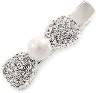 Pince /à cheveux de mariage bijoux de mari/ée /épingles /à cheveux accessoires pour cheveux pince /à cheveux cristal de cristal scintillant fran/çais pour femmes et filles 7.3 2.7cm