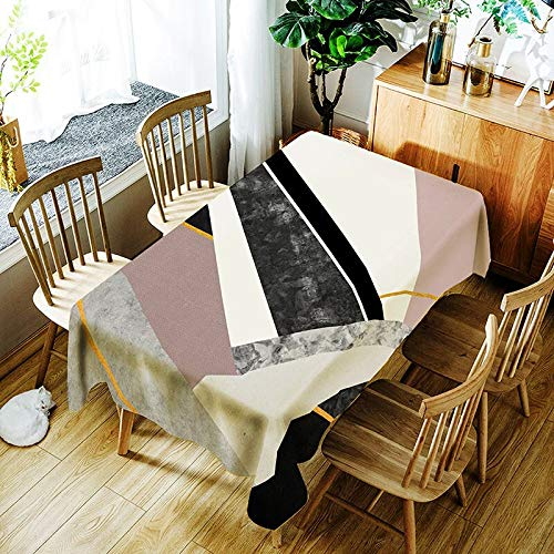 XXDD Mantel a Rayas de Moda Creativo Mantel con patrón de línea Colorida cómoda Cubierta de Mantel Impermeable A6 135x135cm