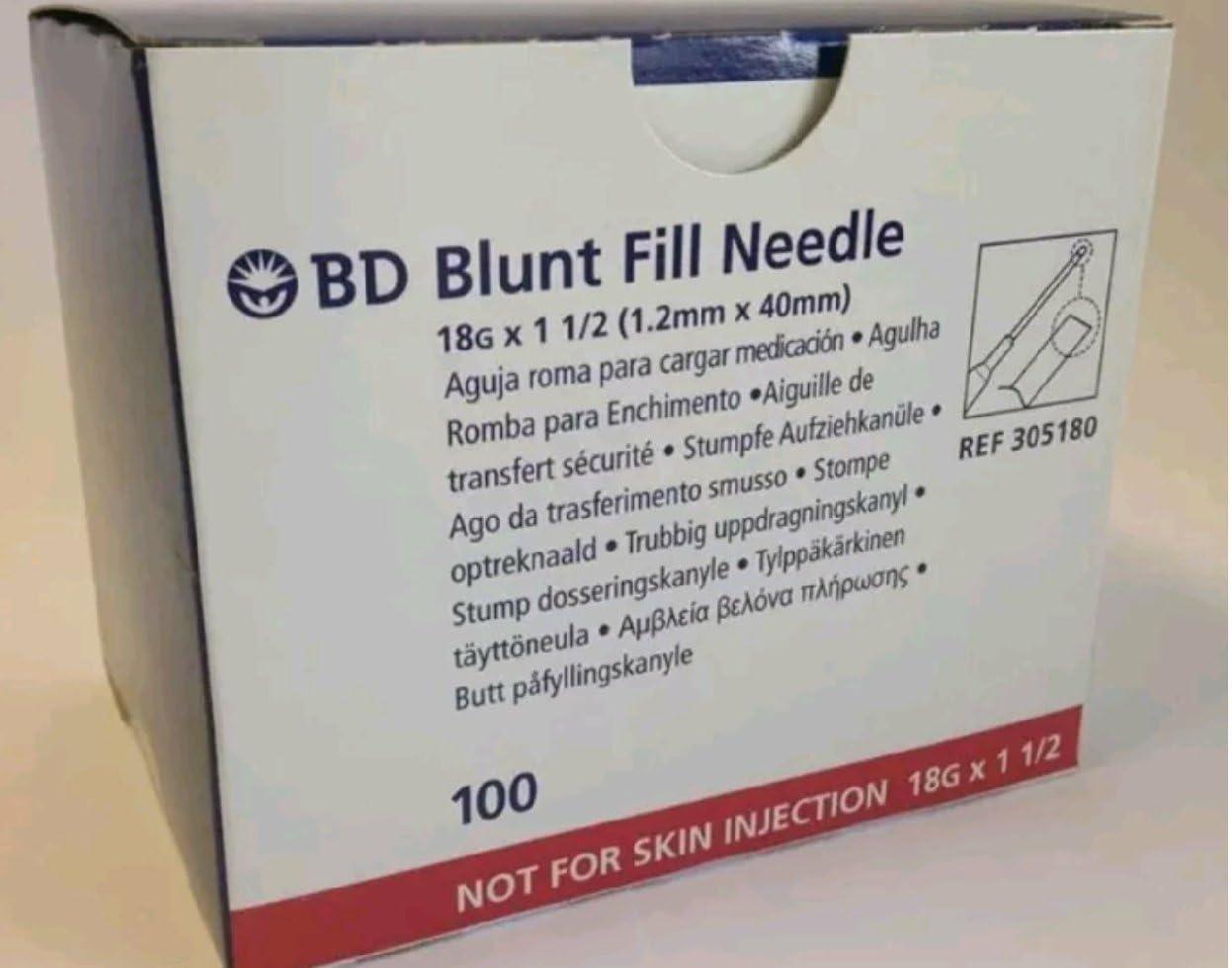 Becton-Dickinson Spasm price Blunt Fill Medication Transfer Gauge Needle Over item handling ☆ 18