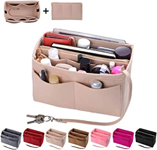 Purse Organizer Insert, Felt Bag organizer with zipper,...