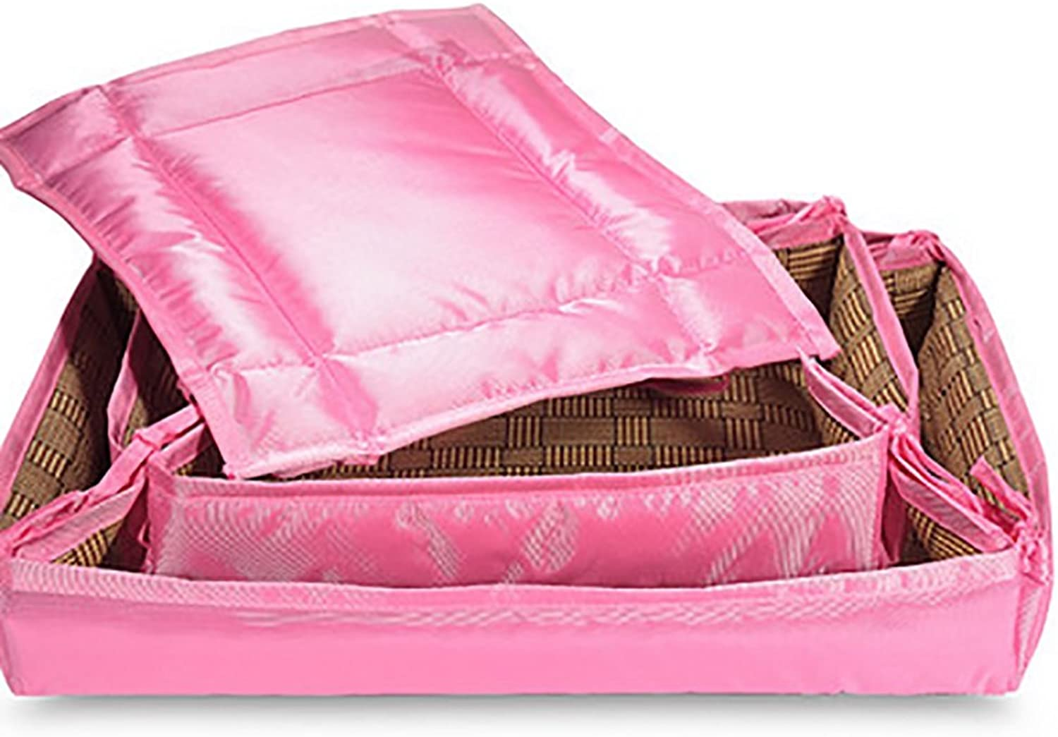 FXNN Pet Bed  Removable and Washable Soft and Comfortable Four Seasons pet Supplies (color   Pink, Size   L)