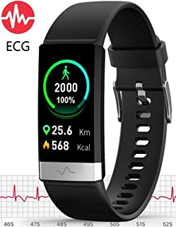 MorePro ECG PPG Fitness Tracker HRV,HD Color Screen Activity Tracker with Heart Rate Blood Pressure,Waterproof Health Watch,Sleep Monitor Pedometer Step Counter for Men Women Android iOS
