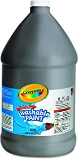 Crayola Washable Paint, Black Paint, Classroom Supplies, 1 Gallon