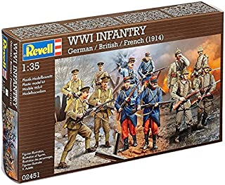 Revell Germany WWI German, British & French Infantry Model Kit