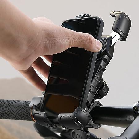 Handyhalterung Fahrrad Lenker, [Niemals abfallen] LISEN Handyhalter Motorrad - Universal 360 Drehung Halter Mountainbike halterung Handy iphone Ständer für Alle Smartphone