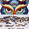 """Wood Puzzles Wooden Jigsaw Puzzles for Adults Owl Shaped Gift for Family Game (200 Pcs 7.9""""x13"""" ) #3"""