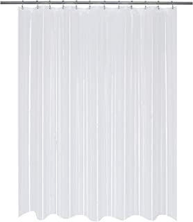 Mrs Awesome Clear Shower Curtain or Liner PEVA 8G, 70 x 70 inches, Water Proof, PVC-Free and Odorless