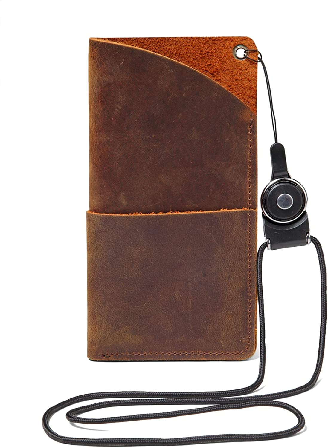 WN2O Genuine Leather Sunglass Case with Pocket Soft Leather Eyeglass Case Pouch/Holder