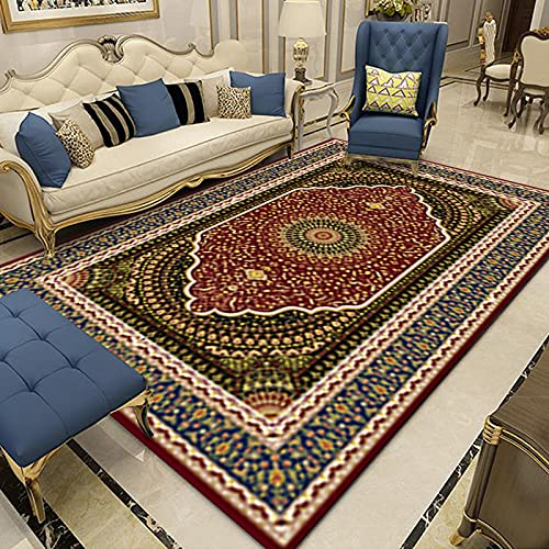Gpink Retro Nordic Ethnic Style Living Room Carpet Coffee Table Mat Home Bedroom Window Carpet Can Be Washed, Thickened And Waterproof