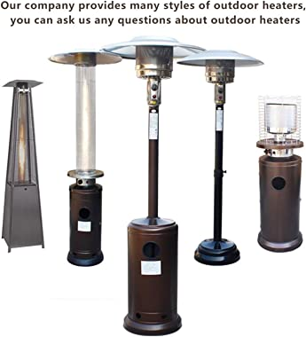 GJX- Outdoor Heater Outdoor Heaters for Natural Gas Adjustable Height, Between 150-200cm(55-78in),Includes 12-Foot-Long Natur
