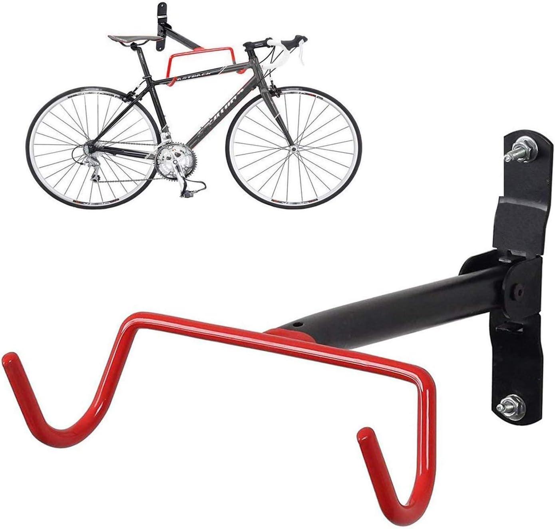 Bike Bicycle Wall Mounted Rack Storage Hanger Holder Metal Foldable Hook