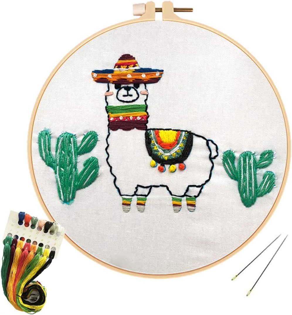 Louise Maelys Animal Embroidery Kit Seasonal Wrap Introduction for Funny Beginners St Cross Manufacturer OFFicial shop