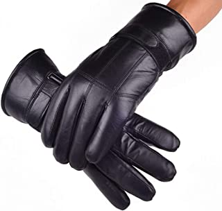 Men's Gloves Genuine Leather Soft fleece Lined WarmThicken Gloves Full Finger Driving Gloves