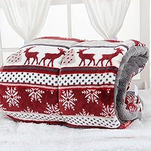Couverture de niche pour chien, Tapis épais en cachemire Candy-colored doux, EN Peluche Coton chaud Cosy Cat Coussins pour auto, cage, Niche, maison pour chien lit
