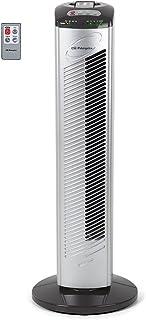 Orbegozo TWM 0975 Ventilador de torre, 3 velocidades de ventilación, mando a distancia, temporizador, oscilante, asa de transporte, 45 W, Gris