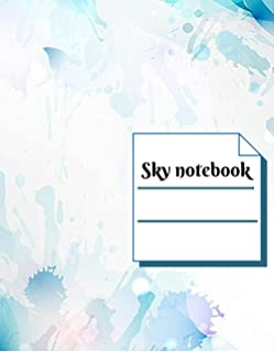 Sky notebook: Lined Notebook Journal- Sky blue Watercolour-100 pages-Large(18.5 x 11 inches)