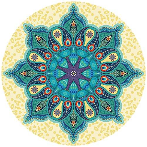 LEYU-Y Yjd rotondo tappetino da yoga/yoga/diametro 1400mm, spessore 3.5mm, tappetino per esercizi/pilates/fitness tappetino/Dance Mat/yoga Hall yujiadian-guo, D, 140*140cm