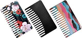 Go-Comb - Wallet Sized Hair & Travel Comb - Wide Tooth - Mixed Plastic 3-Pack