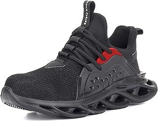 Aingrirn Chaussures de sécurité Embout Acier Léger Confortable Respirante Chaussures de Travail Homme Femme