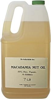 Aceite orgánico de nuez de macadamia prensado en frío, 7 libras/un galón