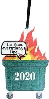 燃烧吧! 2020!圣诞装饰品,垃圾箱火形木坠,个性化圣诞树挂饰,创意圣诞节礼物 (Multicolor)