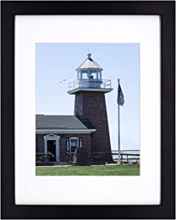 Golden State Art 11x14 Photo Wood Frame with Mat for 8x10 Picture BLACK