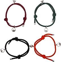 Paar Magnetische Armband Verstelbare Geweven Paar Armband Magnetische Paar Armbanden Verstelbare Vlecht Touw Armband Koppe...