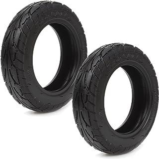 /également 8 x 2 + 2 tuyaux avec valve dangle en direction 90/°//30/° gris Lot de 2 pneus pour fauteuil roulant 200 x 50 faible pression dair 25 PSI pneus avec profil rainure
