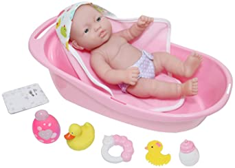 Corolle/-/Bathtub Pink Pretend Play Accessory for 14 Baby Dolls