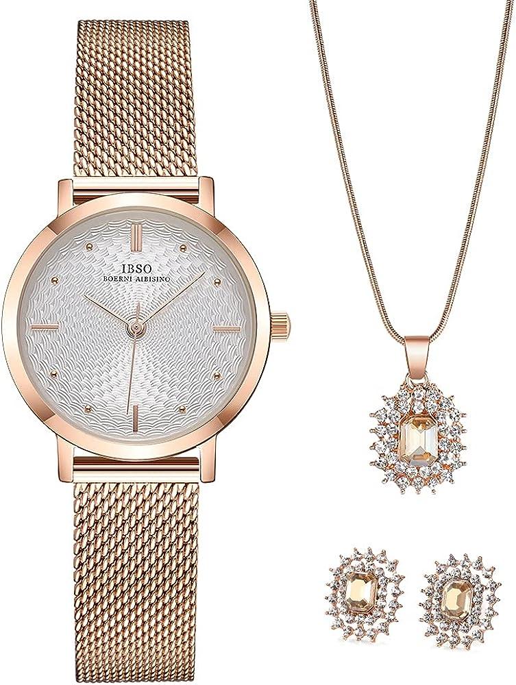 IBSO BOERNI San Antonio Mall AIBISINO Women Watch Sets with Watches High material Wrist Quartz