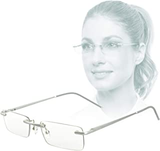 Edison & King Clarity rimless reading glasses – an elegant accessory with premium lenses including blue light filter