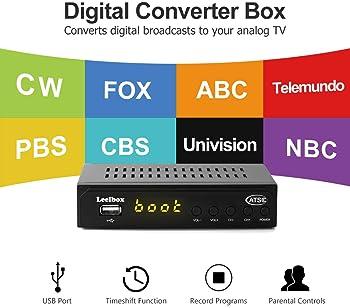 Leelbox Digital Converter Box for Analog TV 1080P ATSC Converters with Recording, Pause Live TV, Multimedia Playback ...