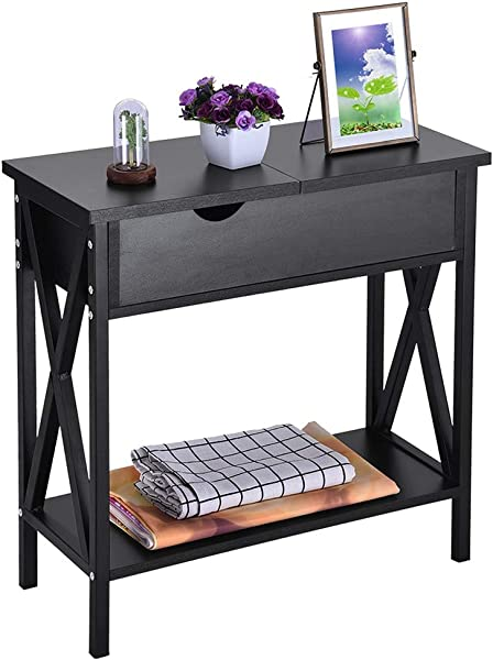 Kimanli End Table Simple Flip Double Storage Bedside Table Bedroom Coffee Table Telephone Table With Locker