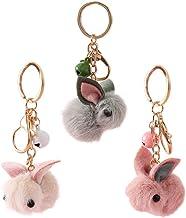 ABOOFAN 3Pcs Pluche Konijn Sleutelhanger Bunny Sleutelhanger Pasen Konijn Bunny Ornamenten Paaseieren Vulstoffen Vullingen...