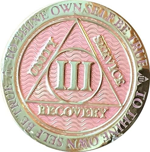 RecoveryChip 3 Year AA Medallion Plated Alcohol Reflex Pink Gold All Limited time cheap sale stores are sold