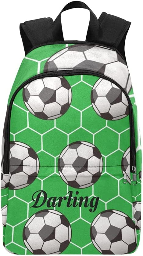 Personalized Soccer Ball Hexagon Backpack Trave Long Beach Mall New mail order Custom Name with