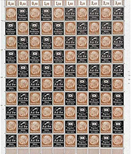 Goldhahn Deutsches Reich überdruckbogen Tag der Briefmarke 10.1.1937   Kabe Briefmarkenalben Allen voran Briefmarken für Sammler